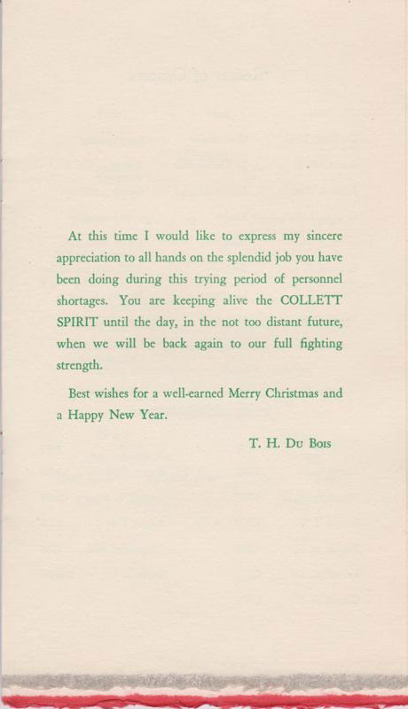 Robert Wylie - 1947 Christmas Booklet
